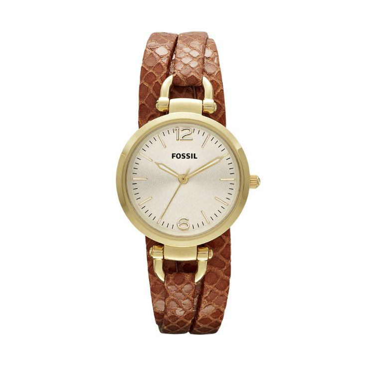 FOSSIL® Watch Collections Georgia Watches:Women Georgia Leather Watch – Light Brown ES3156