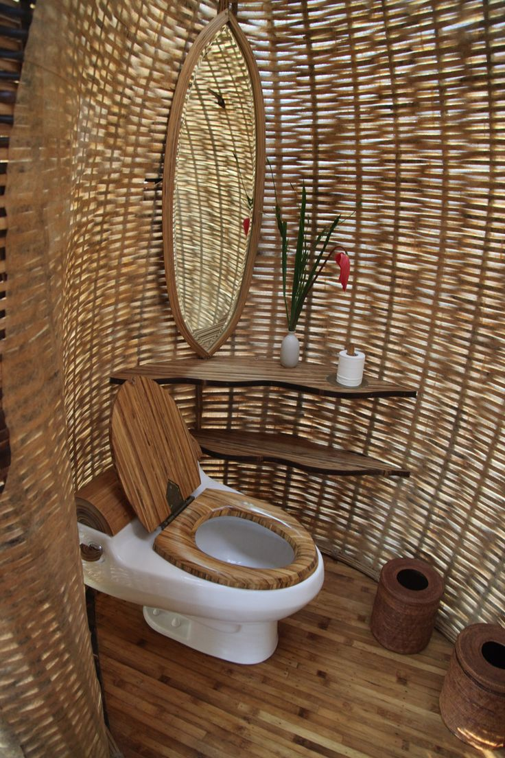 green village bali is an eco initiative led by ubuds elora hardy and her team at bohemian bathroomtropical bathroombamboo - Bamboo Bathroom Design