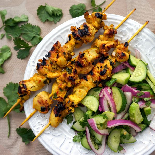 Chicken Satay with Creamy Almond Sauce & Thai Cucumber Salad | Eat Me ...