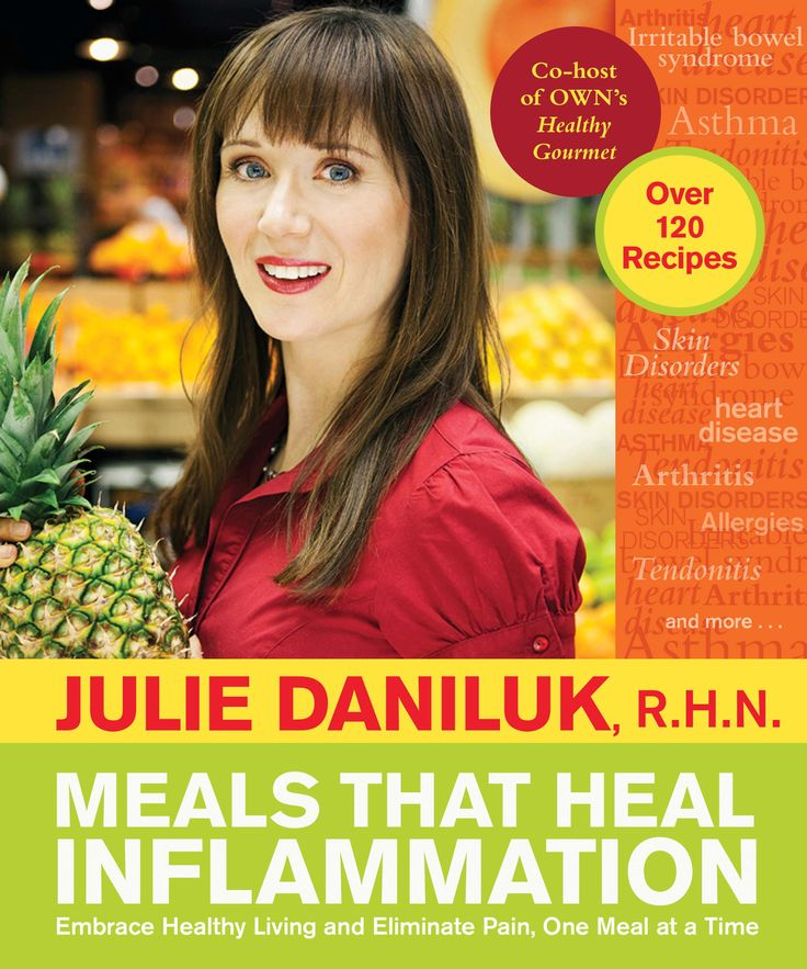 TV host and nutritionist Julie Daniluk reveals just how much pain is caused by inflammation and shows how to relieve it through diet. Featuring a practical nutrition guide, menu plan and 130 easy and delicious recipes, Meals that Heal Inflammation makes healthful eating a true pleasure.Embrace Healthy, Meals, Elimination Pain, Book Worth, July Daniluk, Healing Inflammation, Food Allergies, Herbal Teas, Healthy Living