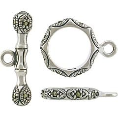 Thai cast Sterling Silver with handset Swiss marcasite