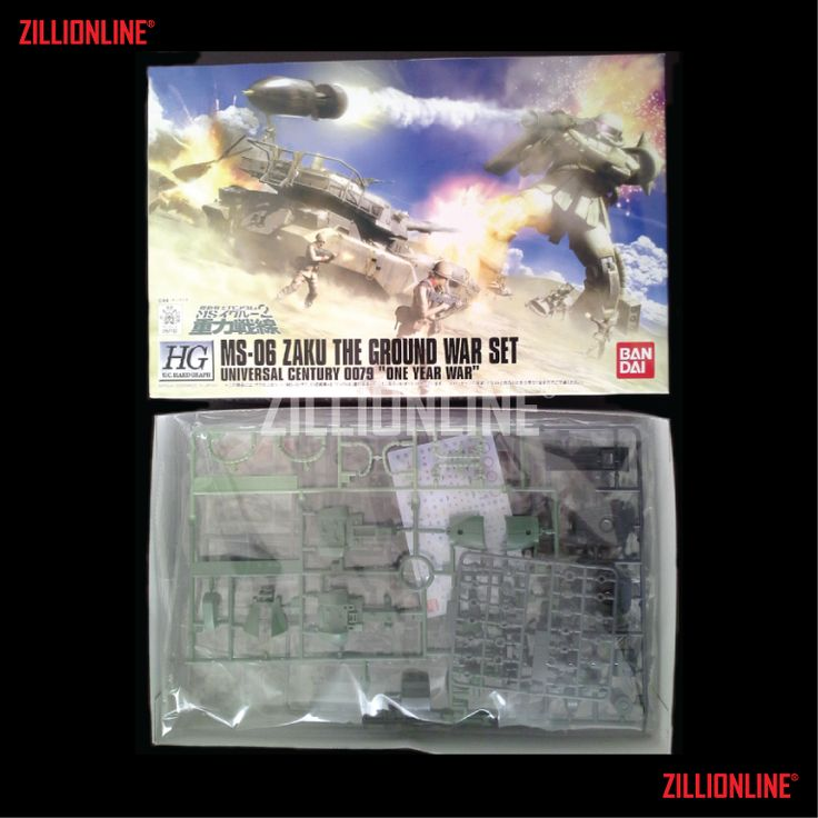 [MODEL-KIT] HGUC HARDGRAPH 1/144 MS-06 ZAKU THE GROUND WAR SET.. Item Size/Weight : 31 x 20.7 x 9.5 cm / 463 g. (*ITEM SIZE & WEIGHT BEFORE PACKAGED). Condition: MINT / NEW & SEALED RUNNER. Made by BANDAI.