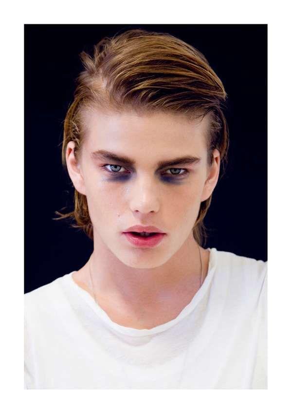 The Jordan Barrett by Bowen Arico Portrait Series is Androgynous #makeup trendhunter.com