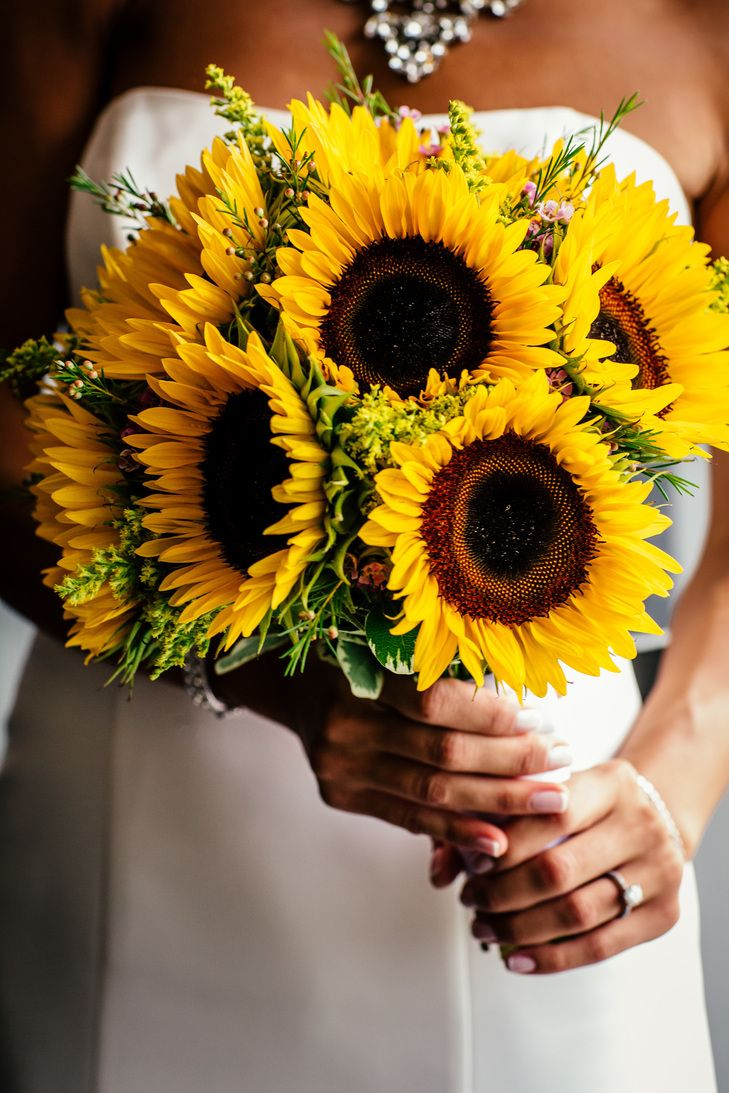 Yellow Sunflower Bridal Bouquet | POPography https://www.theknot.com/marketplace/popography-parsippany-nj-601991