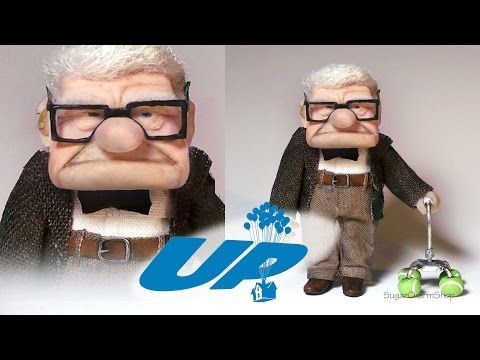 Mr. Carl Fredricksen Inspired Doll - Polymer Clay Tutorial (Disney's UP) - YouTube