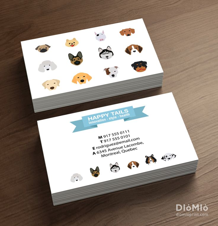 pet store business cards