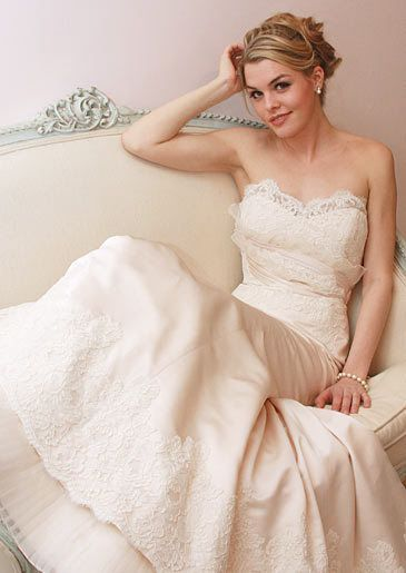 Perfect Eve of Milady Gown Lightpink Blush Wedding