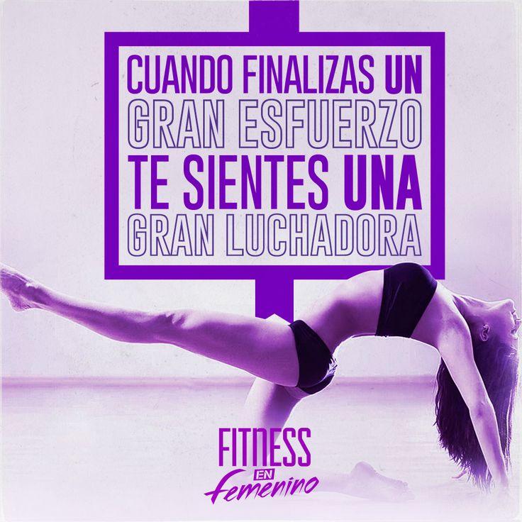 Cuando finalizas un gran esfuerzo, te sientes una gran luchadora. Fitness en femenino.