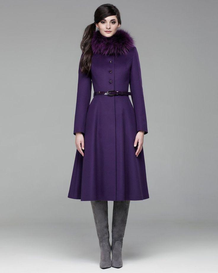 Зимнее пальто с юбкой солнце. Модный дом Ekaterina Smolina.