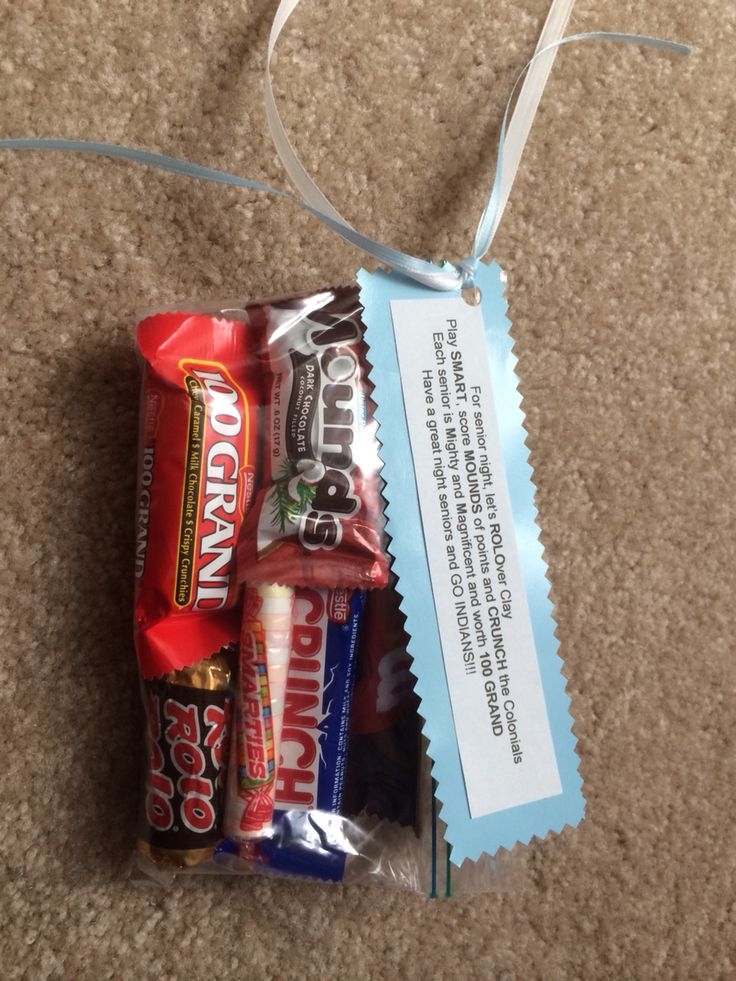 Candy poem and treats for football senior night.