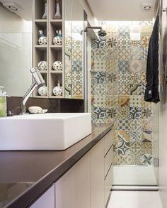 6 dicas para decorar banheiros minúsculos (De Nilbberth Silva - homify)