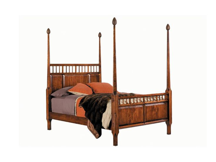 The 1608 Bed U2013 Hardenu0027s Solid Cherry Poster Bed Is Accented With Carved Pine  Cone Finials.