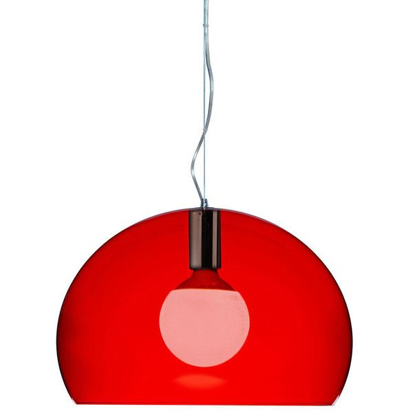 red pendant lighting. kartell mini fly ceiling light red 210 liked on polyvore featuring home lighting lights pendant