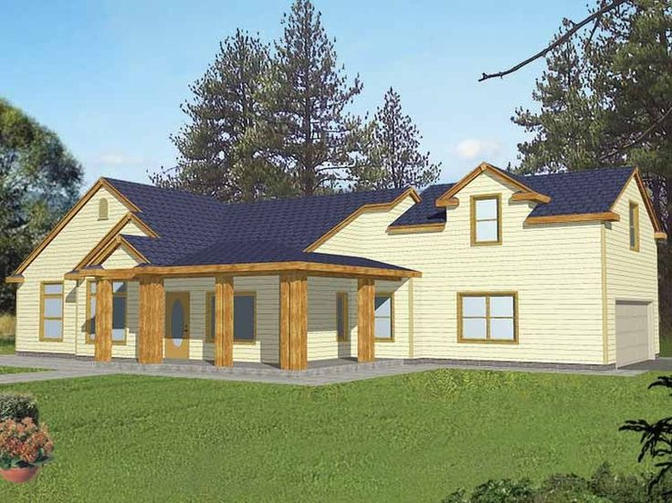 Love eplans prairie house plan 1950 square feet and for Eplans prairie house plan
