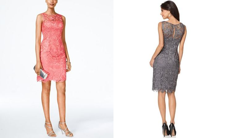 Adrianna Papell Lace Sheath Dress - Dresses - Women - Macy's