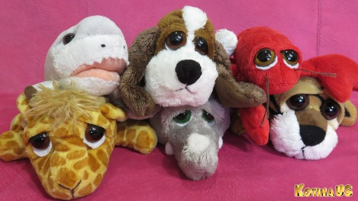 Stuffed Animals Funny Plush toys Dog Shark Shrimp Giraffe Elephant Tiger...