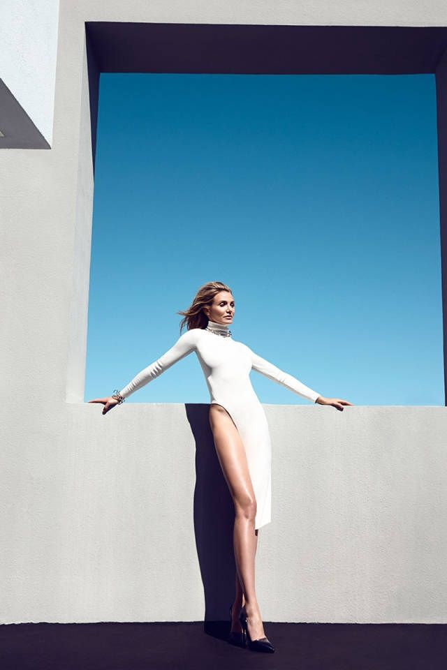 cameron diaz 2014 photo shoot4 Cameron Diaz Poses for Harper's Bazaar, Talks Pressure to Have Children at 42