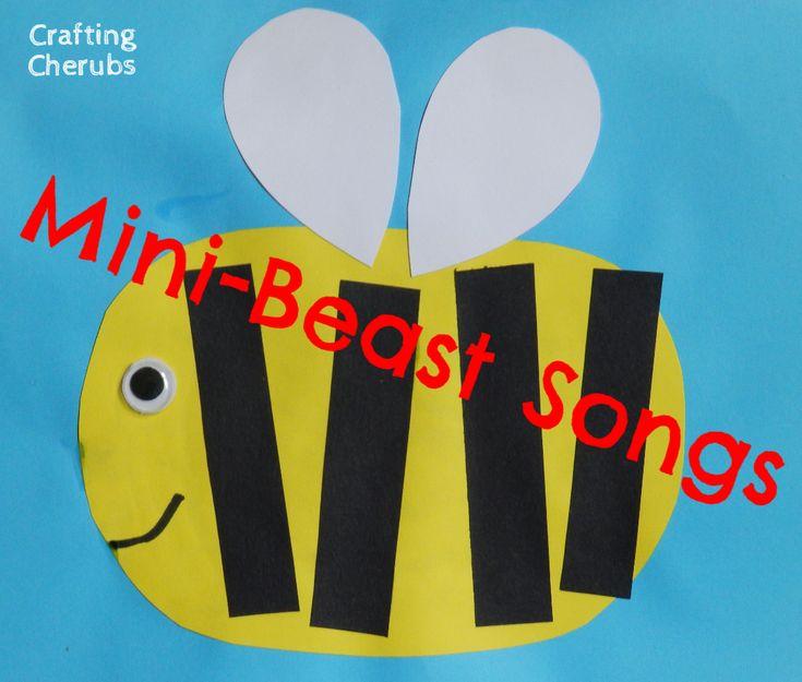 Mini-Beast Songs for Rhyme Time.  Mini-Beast Songs for Toddlers.  Mini-Beast Songs for Pre-Schools.
