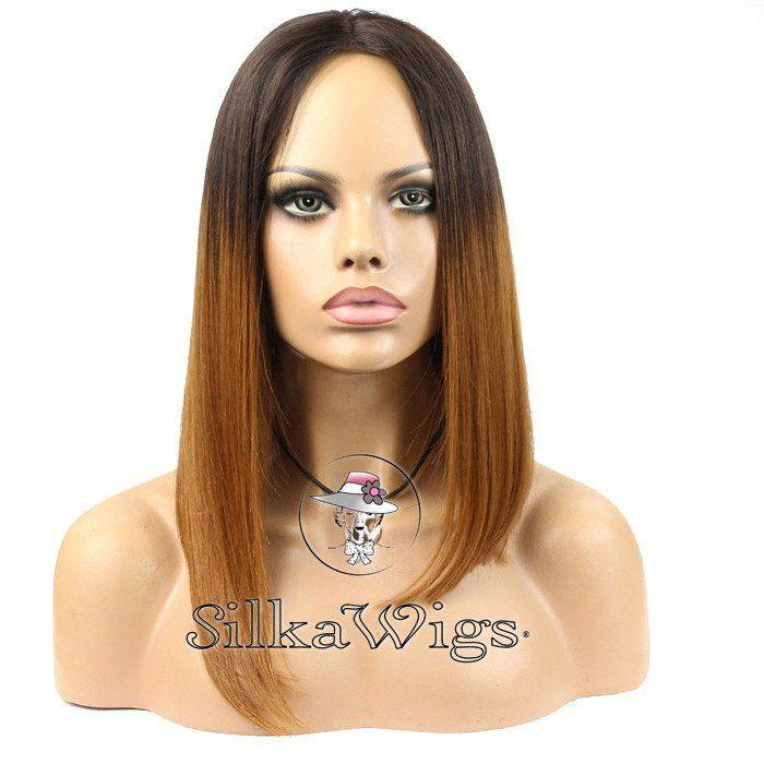 Short ombre bob cut human hair wig  T2/30