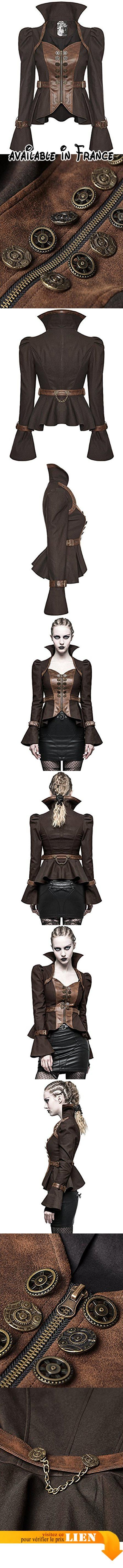 B075THTJ7X : Punk Rave femmes Steampunk Veste simili-cuir brun cuivre gothique vintage victorien - Marron M: UK Womens Size 10. PARFAIT TENUE POUR steampunks et vintage amateurs de. Article punk rave authentique. 60% coton 35% polyester 5% élasthanne. NEUF pour femmes blouson cintré par Punk Rave. marron 60%COTON 35%polyester 5%élasthanne