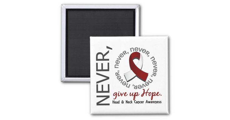 Hope is everything. When it comes to head and neck cancer, we must never give up that hope. Express this sentiment while sharing the important message of head and neck cancer awareness with those around you with Never Give Up Hope t-shirts, apparel, and merchandise featuring assorted text fonts, eye-catching layout, and a multi-shaded burgundy and white head and neck cancer awareness ribbon. As regular contributors to medical, animal, and Darfur charities, we hope that you think of us first…