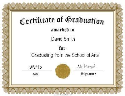 The 25+ best Graduation certificate template ideas on Pinterest - award certificates templates