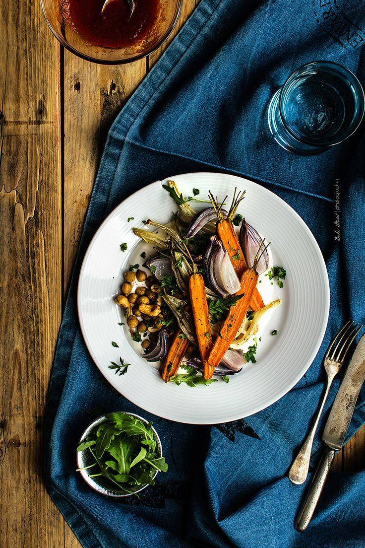 Garbanzos con zanahorias, hinojo y harissa - Bake-Street.com