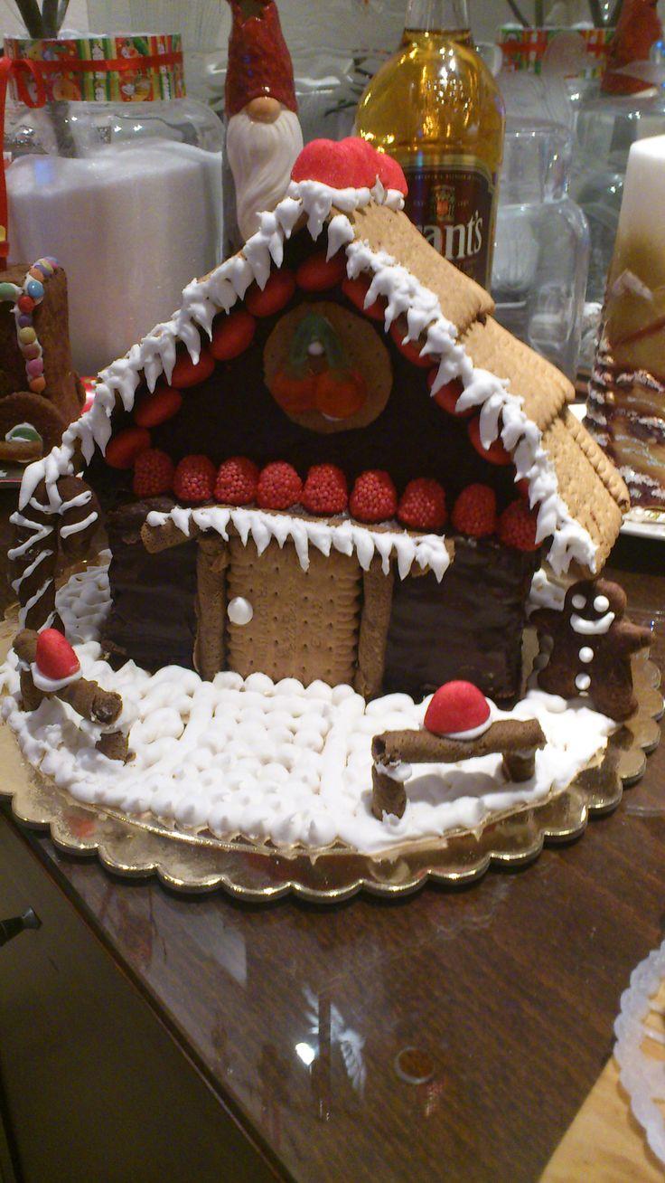 χριστουγεννιάτικο σπιτάκι κέηκ