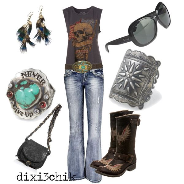 absolutely love this look…well minus the skull and cowboy boots, maybe a more modern boot!