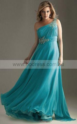 One Shoulder Floor-length Chiffon Dropped None Formal Dresses gt0256--Hodress