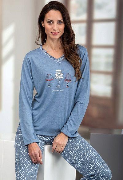 Pijama mujer invierno Massana modelo DENIM http://www.perfumeriaelajuar.com/homewear/pijama-mujer-invierno-/30/