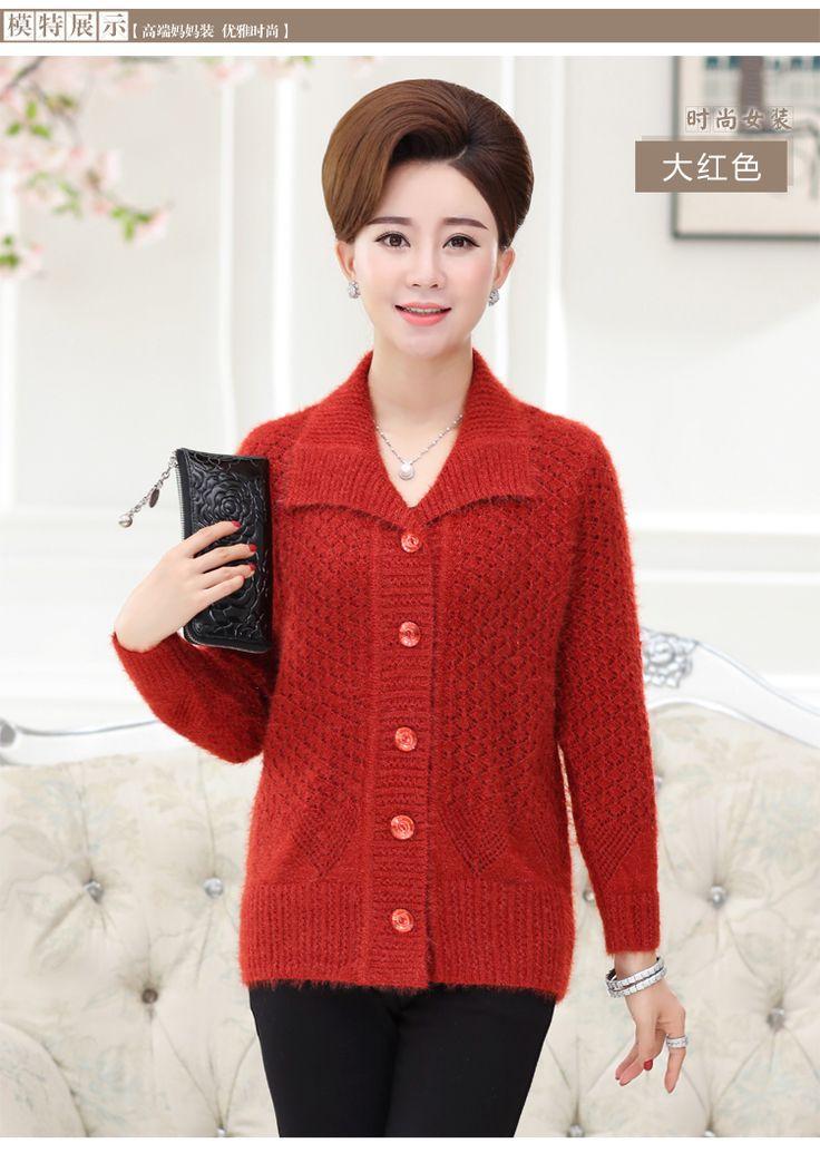 2017 Демисезонный женщин среднего возраста кардиган свитер однобортная Модель средней длины кардиган верхняя одежда кардиган женский W474купить в магазине BEAUTIFUL LEGENDнаAliExpress