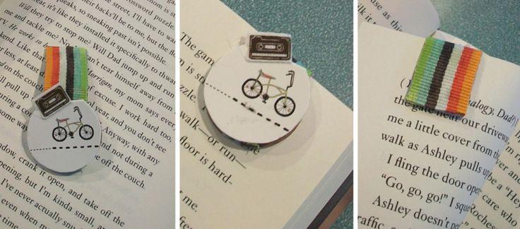 lesezeichen selber machen magnet klappen fahne fahrrad motiv
