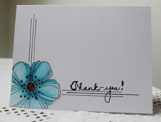 The 3 lines add just the right touch to take it from plain to better.      CAS2012summerDT1 Thank-you by Holstein - Cards and Paper Crafts at Splitcoaststampers