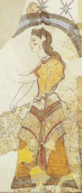Minoan Women Clothing | Minoan clothing was suitable to the mild climate of Crete and bore ...