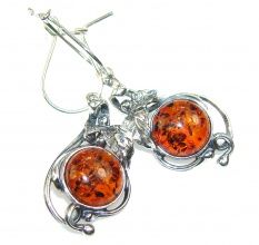 Gentle Polish Amber Sterling Silver earrings