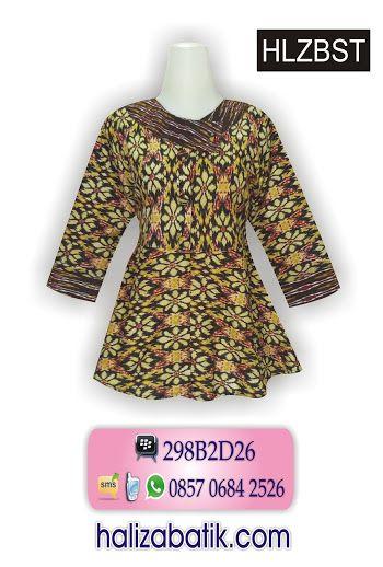 blus batik terbaru bahan katun halus, model payung dengan lengan 7/8. More info: contact via WA 085706842526
