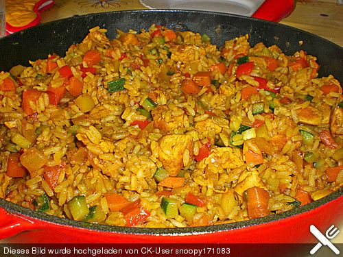 Reispfanne, ein schmackhaftes Rezept aus der Kategorie Geflügel. Bewertungen: 145. Durchschnitt: Ø 4,5.