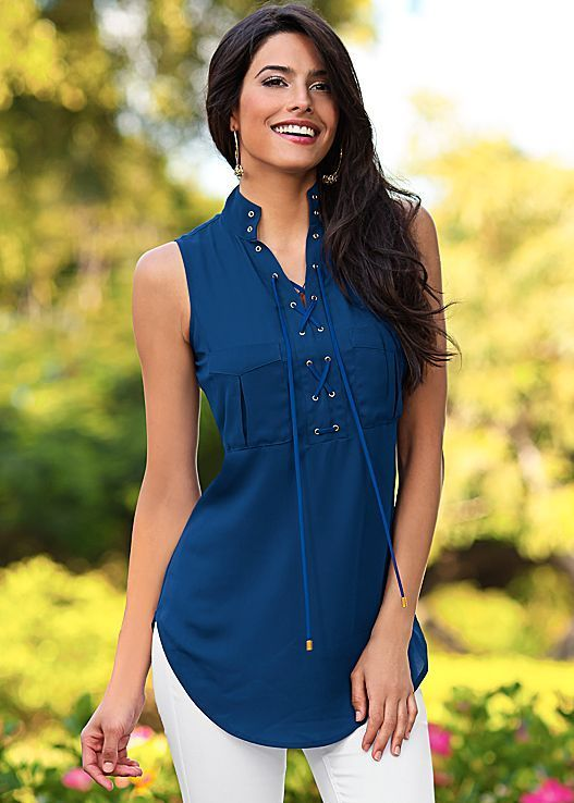 Lace up tunic by VENUS: