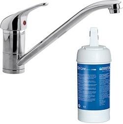 kitchen  kitchen tap with brita on line active filter kit (chrome). - taps4less.com