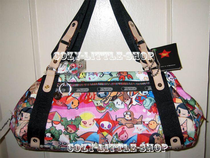 NWT LeSportsac TOKIDOKI SPIAGGIA *GIOCO* Bag ~SANDY+BEACH+SCUBA MONKEY+~A++PRINT in Clothing, Shoes & Accessories, Women's Handbags & Bags, Handbags & Purses | eBay