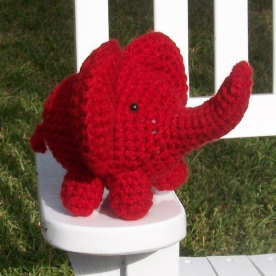 Ethan Mini Elephant Amigurumi by AllAboutKendra on Etsy, $8.00