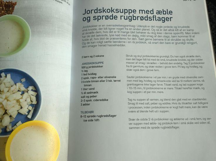 Jordskoksuppe m æble og rugbrød