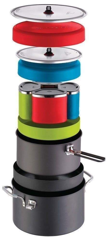 MSR Flex 4 System ($145) stores a million pans and cups for group meals in one pot. | 15 Clever Products For People Who Love To Go On Adventures