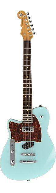 Left Handed Reverend Buckshot Guitar in Chronic Blue - Them Reverend guitars sure look nice!