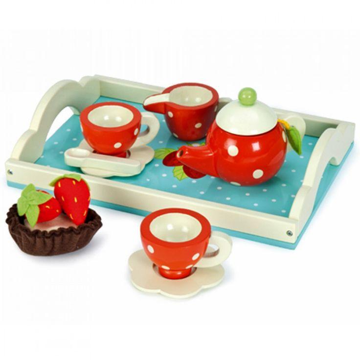 le toy van houten theeservies met dienblad TV276 | ilovespeelgoed.nl