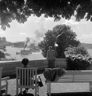 DigitaltMuseum - Utsikt från terrassen till Prins Eugens Waldemarsudde…