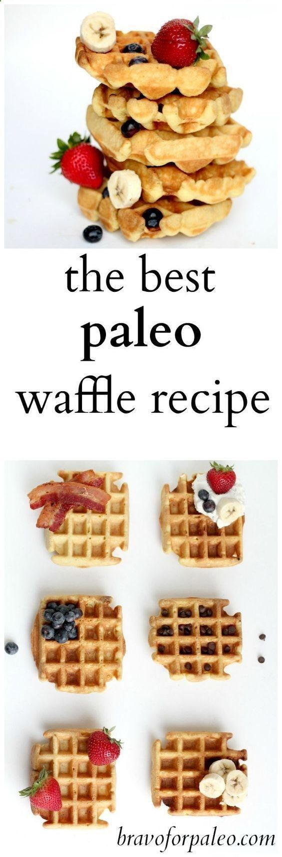 This is my FAVORITE gluten free, grain free, paleo waffle recipe! Use the coconut oil for this recipe to keep it clean eating friendly. Pin now to make this healthy breakfast recipe later.