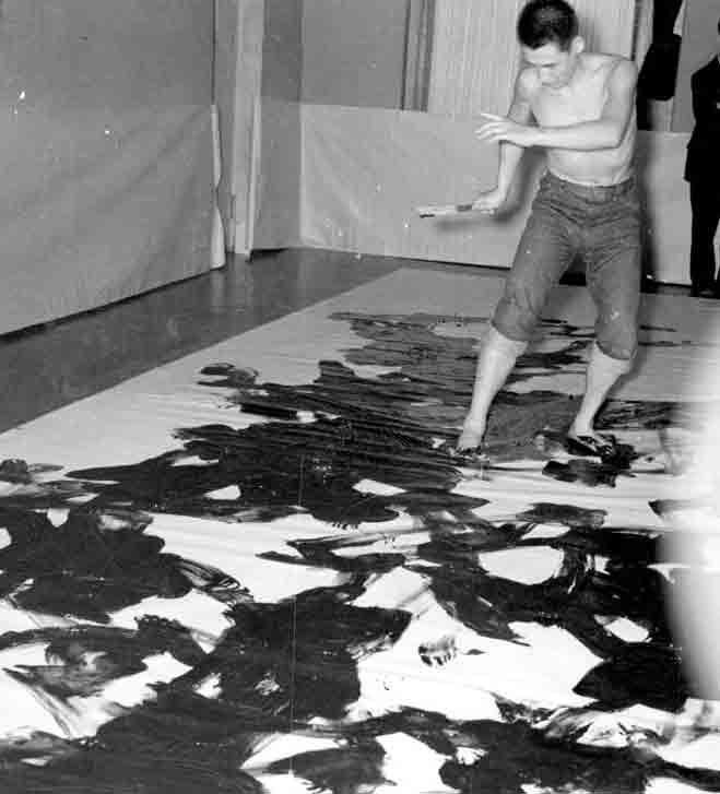 Kazuo Shiraga (groupe Gutaï)  La peinture est un corps à corps avec la couleur