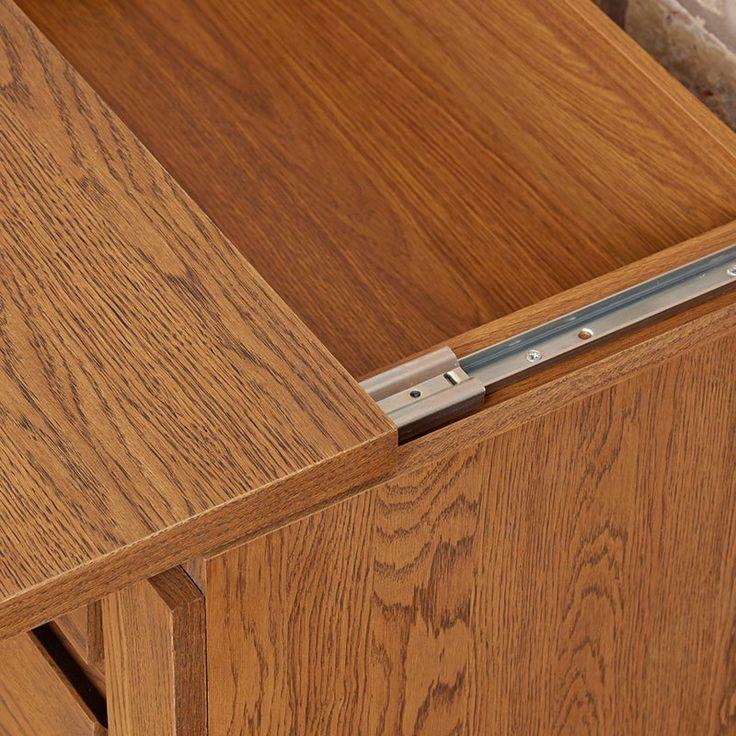 Great Olten Hideway Storage Oil Oak Desk Sideboard
